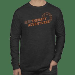 Logo Long Sleeve Shirt (Black) - Therapy Adventures